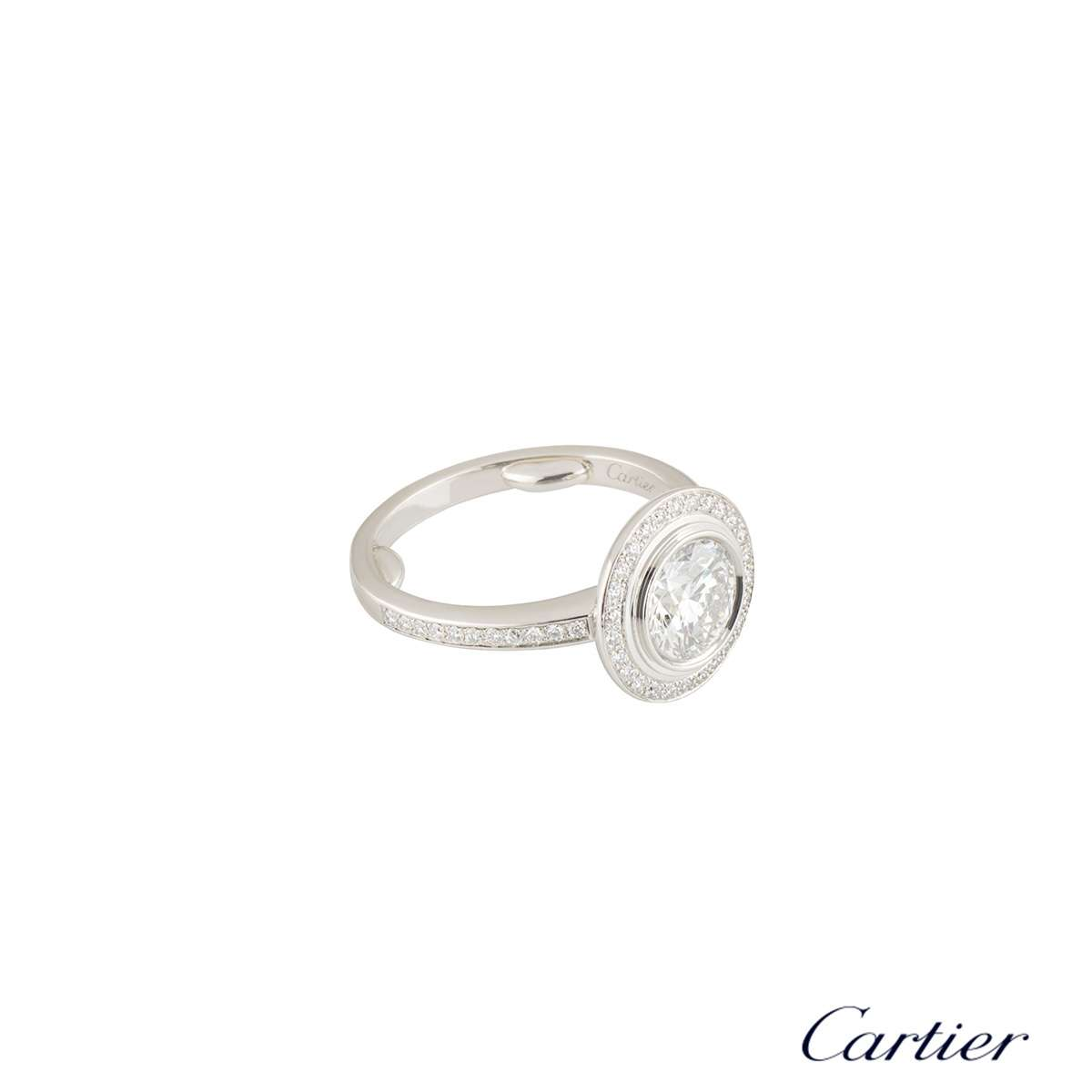 Cartier D Amour Diamond Platinum Ring